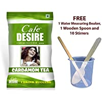Tea Premix Instant 1 kg - Café Desire Certified FREE SHIPPING (FOR MAKING A PERFECT CUP OF BEVERAGE WE PROVIDE WATER MEASURING BEAKER, WOODEN SPOON AND 10 WOODEN STIRRERS ABSOLUTELY FREE ALONG WITH THE PRODUCT)