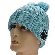 buy Xikezan Bluetooth Headset,Wireless Stereo Headphone Earphones Speaker Thick Winter Beanie Hat Cap For Music & Make/Answer Phone Call(Gray)