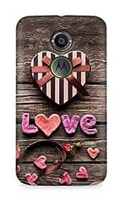 Amez designer printed 3d premium high quality back case cover for Motorola Moto X (2nd Generation) (Romantic gift)