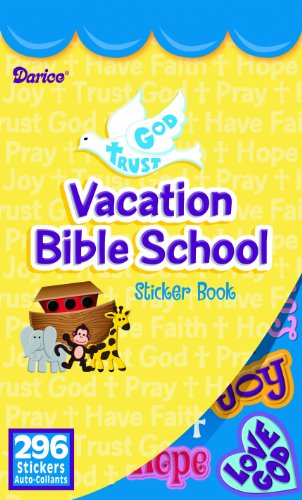 WeGlow International Vacation Bible School Sticker Book (Pack of 4)