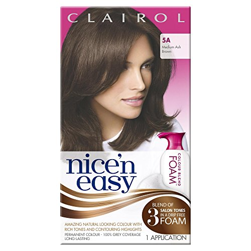 clairol-nicen-easy-colour-blend-foam-permanent-hair-dye-medium-ash-brown-5a