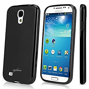 BoxWave Samsung Galaxy S4 (S IV, SIV) Blackout Case - Durable, Slim-Fit Black Galaxy S4 TPU Case and Cover with Stylish Dual Glossy and Matte Finish