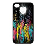 Colorful Zombie Hands TPU case cover skin for ipohone 4 4s
