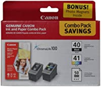 Canon 0615B009 PG-40/CL-41 Cartridges and Glossy Photo Paper Combo Pack from Canon