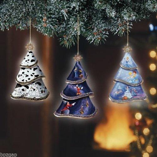 Magic Of Disney Bradford Exchange Christmas Ornament Set of 3