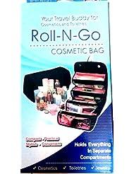 Roll N Go Travel Buddy Cosmetic Toiletry Shaving Jewelry Bag Organizer