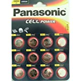 Panasonic CR-2032 Lithium Coin Battery - Twelve Pack