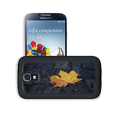 Wet Yellow Leaf On Pavement Ground Samsung I9500 Galaxy S4 Snap Cover Case Premium Leather Customized Made To Order Support Ready 5 3/16 Inch (132Mm) X 2 13/16 Inch (71Mm) X 4/8 Inch (12Mm) Luxlady Galaxy_S4 Professional Cases Touch Accessories Graphic Co front-1012401