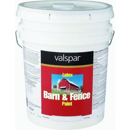 Valspar 3125-10 Barn and Fence Latex Paint, 5-Gallon, Red (Barn Red Paint compare prices)