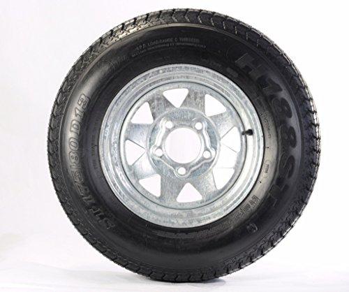175/80D13 Trailer Tire with 13″ Galvanized Spoke Rim (175 80 D13 Trailer Tire And Wheel compare prices)