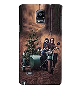 Blue Throat Boys Enjoy On Vintage Scooter Printed Designer Back Cover/ Case For Samsung Galaxy Note Edge