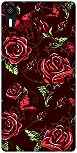 The Racoon Lean Maroon Rose Wallpaper hard plastic printed back case / cover for Lenovo Vibe Shot