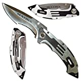 Matrix Silver Stainless Steel Folding Knife