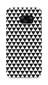 AMEZ Black n White Pattern5 Back Cover For Samsung Galaxy S7