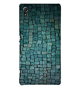 Blue Cobbled Stone 3D Hard Polycarbonate Designer Back Case Cover for Sony Xperia Z4