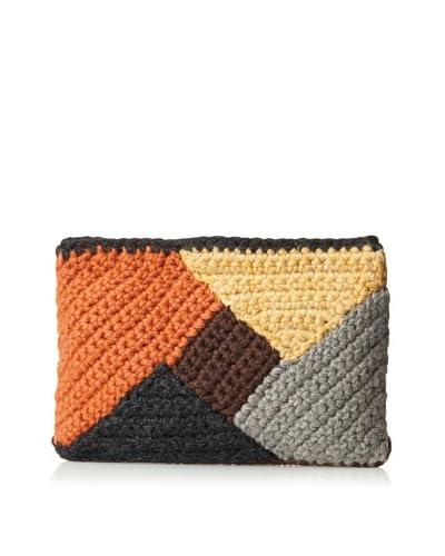 Lorenza Gandaglia Women's Vera Colorblock Clutch  [Orange]