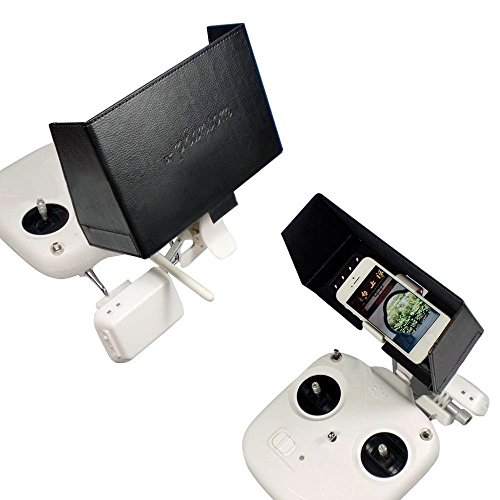 Kalevel® FPV Cellphone Monitor Sunshade Hood for DJI Phantom ,DJI Phantom 2,Phantom FC40 Transmitters,Sun hood Sun Shade for DJI Phantom Vision 2 Plus, Sun Hood for Camera,Sun Hood iPhone, Suitable for iPhone 4 4S 5 5S 5C,Samsung Galaxy S4 S3 S5,HTC,HUAWEI (Black) (Sun Shade Holder compare prices)