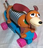 Disney TOY Story - Mcdonald's Happy Meal, Slinky DOG Figure on Wheels Toy