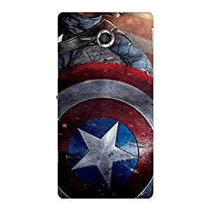 Delighted Round Multicolor Shi Back Case Cover for Sony Xperia SP