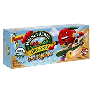 Walnut Acres Organic Applesauce Fruit Squeezies, 2-Ounce Tubes (Pack of 6)