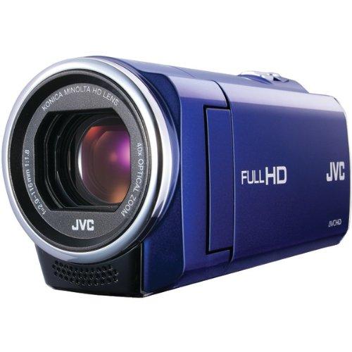 jvc 1 5 megapixel 1080p high definition everio digital video camera blue gze10aus look at camera. Black Bedroom Furniture Sets. Home Design Ideas