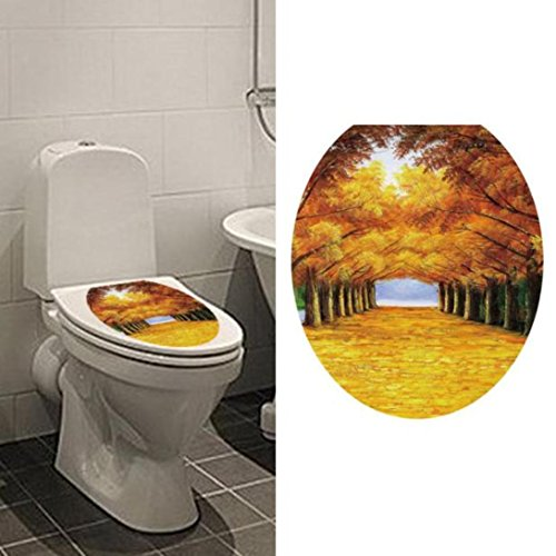 Hatop Toilet Seat Wall Sticker Decals Vinyl Art Wallpaper Removable Decor (A) (One Direction Number Clock compare prices)