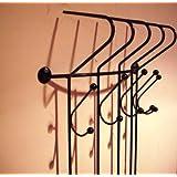garderobe schmiedeeisen ablage eisen handtuchhalter braun. Black Bedroom Furniture Sets. Home Design Ideas