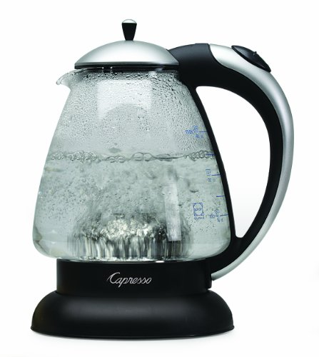 Capresso H2O Plus Water Kettle, Matte Silver, 48-Ounce front-68255