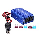 EasyFocus Car Power Inverter 300W DC 12V to 110V AC Car Converter Cigarette Lighter Adapter with Dual USB 4.8A