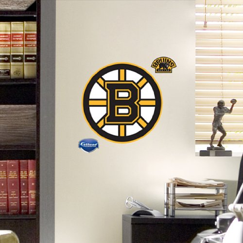 Nhl boston bruins fathead logo 843767075320 Bruins room decor