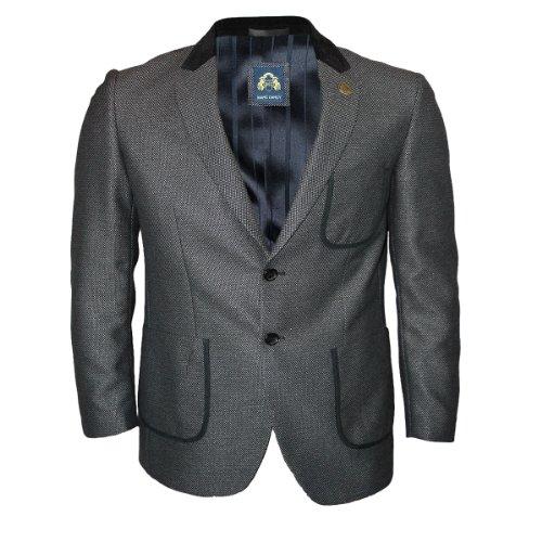 Mens Grey Marc Darcy PW9 Designer Regular Fit Blazer Jacket Size 36R