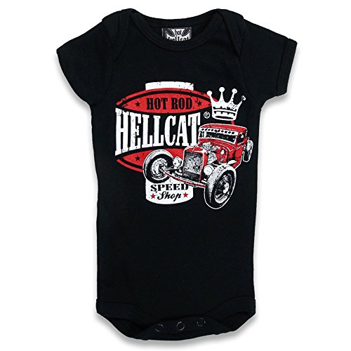 Hotrod Hellcat Baby pagliaccetto - Speed King Hot Rod pagliaccetto nero 0-3 Mesi