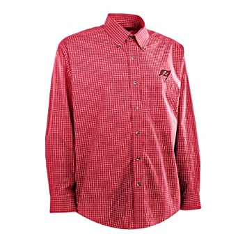 NFL Mens Tampa Bay Buccaneers Esteem Woven Dress Shirt by Antigua