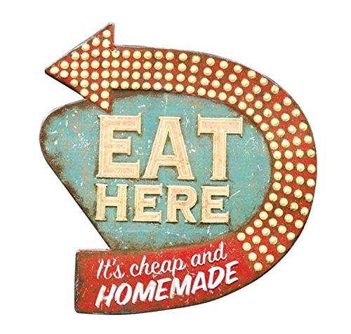 16 Quot Vintage Distressed Eat Here Faux Neon Light Retro