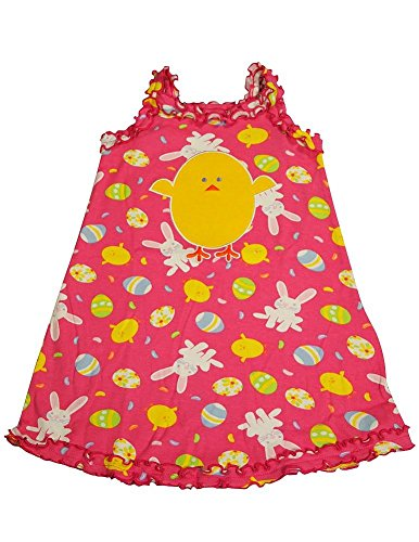 Sara'S Prints - Little Girls'S Bunny Tank Nightgown, Pink 35278-4 front-838203