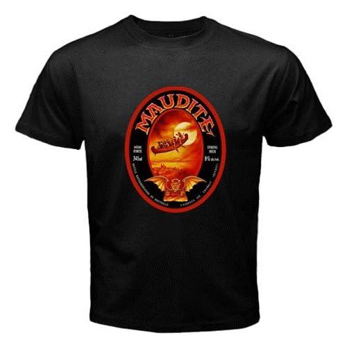 "Amazon.com: Unibroue Maudite Beer Logo New Black T-shirt Size ""M"