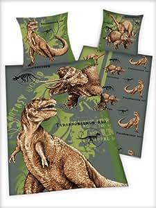 Dinosaur Bedding Bedcover, 100% Cotton Linon, (80x80/135x200cm)