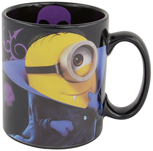 "Tazza con Minion vampiro e scritta ""Sorry I'm bad"", 320 ml, colore nero"
