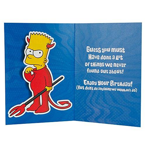 Label m fils humour les simpsons motif carte d anniversaire - Carte anniversaire simpson ...