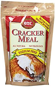 O.T.C. Traditional Cracker Meal, 10-Ounce Canisters (Pack of 12)