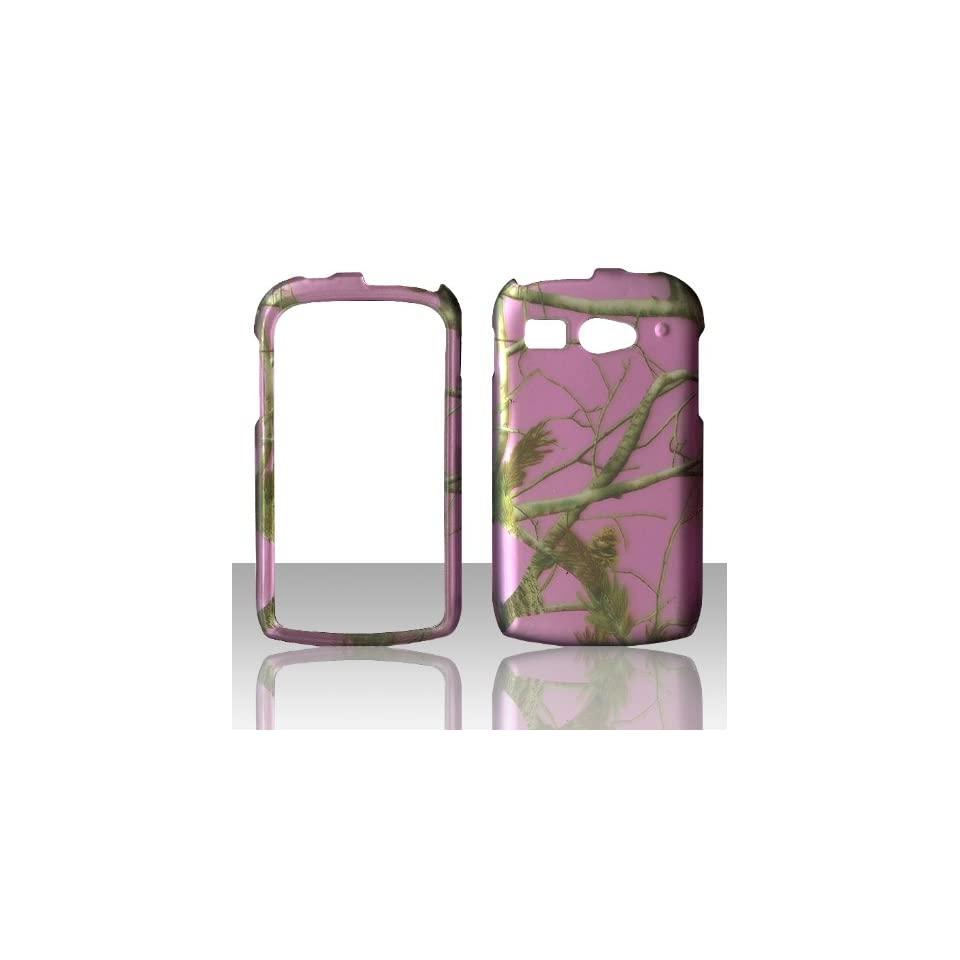 2D Pink Camo Pine Mapple Kyocera Hydro C5170 Boosts Mobile & Cricket Case Cover Hard Phone Case Snap on Cover Rubberized Touch Protector Cases