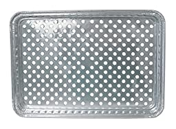 Durable Packaging 7200-100 Disposable Aluminum BBQ Grill Topper Pan (Pack of 100)