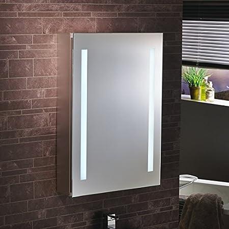 "Lumino Mirrors ""Ossia"" - LED Bathroom LED Mirror Cabinet Illuminated Mirror - H70cm x W50cm - FREE NEXT DAY DELIVERY"