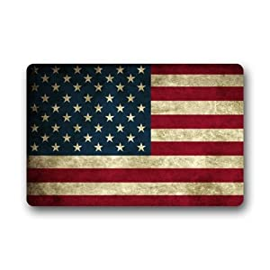 Door mat vintage flag of american stars and for Door mats amazon