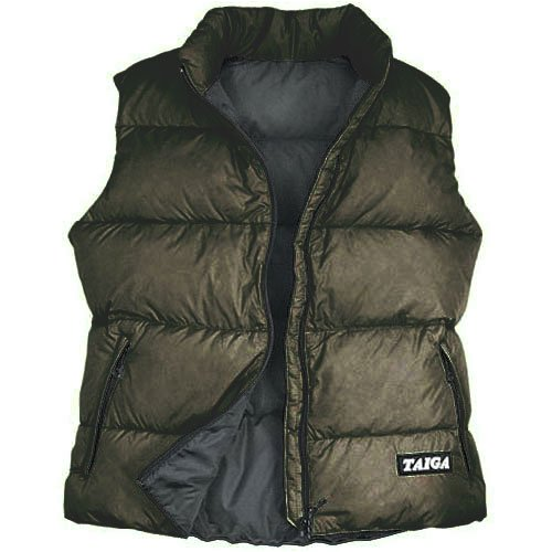 TAIGA Women's Cheakamus – Goose Down Vest, Black, MADE IN CANADA 700
