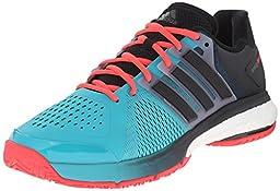 adidas Energy Boost Tennis Shoes, Shock Green/Black/Shock Red, 10.5 M US