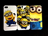 3 X Despicable Me Minion Plastic Hard Case Skin For Apple Iphone 4 4G 4S (Package includes: 1 X Screen Protector and 1X Stylus Pen imagecatgift_store)