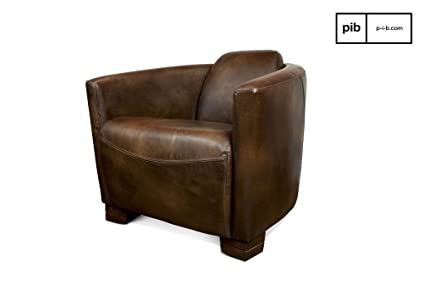 Red Baron leather retro armchair