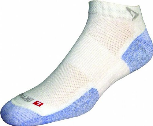 Drymax Drymax Hot Weather Run Mini Crew Socks, White/Blue, Medium