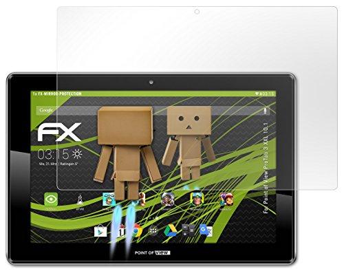 atFoliX Displayschutz Point of View ProTab 3 XXL 10.1 Spiegelfolie - FX-Mirror mit spiegeleffekt